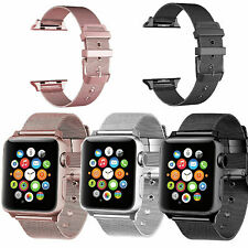 Milanese Buckle Loop Strap Stainless Steel Band For Apple Watch Series 1/2/3/4/5