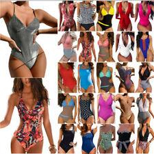 Women Push Up One Piece Monokini Swimsuit Bathing Suit Summer Swimwear Beachwear