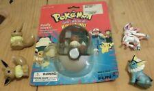 5 DIFFERENT Eevee Evolutions RARE Pokemon TOMY Pokeball Keychain Figure Toy Lot