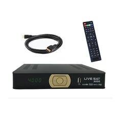 HD Sat Receiver LIVE SAT 3000 FTA 2X USB Kompatibel Wifi IPTV Xtream