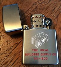 PENGUIN Vintage Rare Advertising Lighter-The Ideal Builders Supply Co. With Box