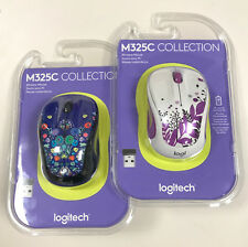 Logitech M325C Wireless Optical Mouse - Collection - Nature Jewelry/Purple Peace