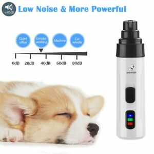 Electric Dog Nail Clipper Cat Quiet Nail Grinder Rechargeable Built-in Battery