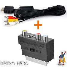 AV TV Kabel + SCART Playstation PS1 PS2 PS3 Chinch Audiokabel Videokabel RCA  PS