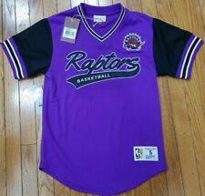 New MITCHELL & NESS Toronto Raptors Purple MESH V Neck JERSEY NBA