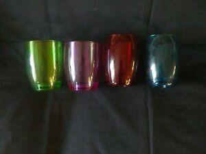 Lot de 4 Verres polycarbonate de couleur pour camping