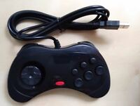 Sega Saturn Style USB Wired PC Computer Controller for usb 2.0 not 3.0 New Black
