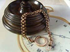 VICTORIAN 10CT ROSE GOLD/F FANCY LINK POCKET WATCH CHAIN OR BRACELET. C~1890's.
