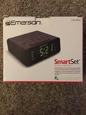 Emerson SmartSet Alarm Clock Radio with Am/Fm Radio, Dimmer, Sleep Time- New