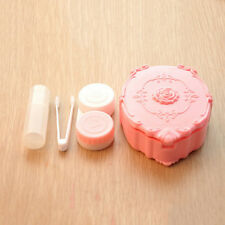 Cute Pocket Mini Contact Lens Case Travel Kit Easy Carry Mirror Container EW