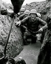 """German Soldiers in the flooded trenches in Russia 8""""x 10"""" World War II Photo 297"""