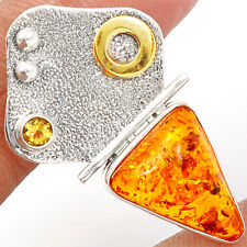 Amber 925 Sterling Silver Pendant Jewelry AMBP687