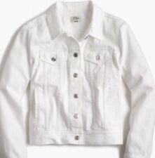 NEW JCREW $98 Petite denim jacket in white SizeLP G1966 In White