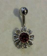 Belly Ring Sterling silver Flower