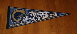 2003 St. Louis Rams NFC West Division Champs pennant Kurt Warner