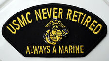 SPECIAL FORCES US Marine Corps NEVER RETIRED Iron on Patch Military Army