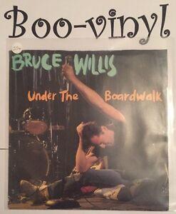"""Bruce Willis - Under The Boardwalk 7"""" Vinyl 1980s 45 RPM Ex Con"""