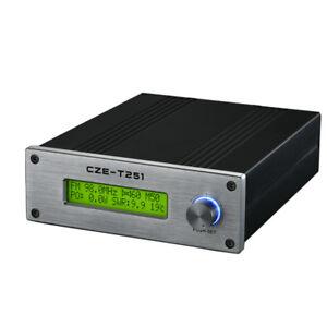 CZE-T251 25W FM transmitter stereo Professional broadcast adjustable 0-25W+Power