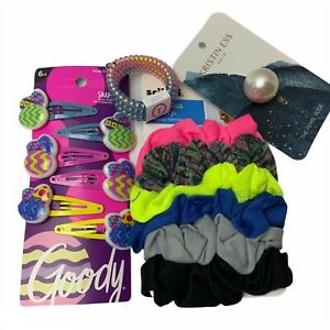 4X The Hair Accessories Goody Barrett's, Scunci, Pearl Slide, Teleties Hair Ties
