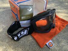 NEW SPY TARGA II MX MOTOCROSS BIKE QUAD BLACK / CLEAR LENS GOGGLE FREE VANS STIC