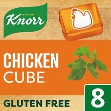 Knorr Chicken Stock Cubes 8 x 10g Cubes 80g Box Gluten Free