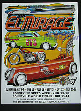 El Mirage 2006 Dry Lake Bed Poster SCTA Indian Roadster VW Bonneville Salt Flats