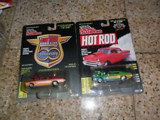 2 LOT RACING CHAMPIONS HOT ROD 1970 CHEVELLE PINK & GREEN 20K MADE REALRIDERS