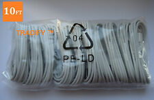 10x 10FT 3M 8 Pin USB Data Sync Charger Cable Cord For iPhone 6 7 Wholesale Lot