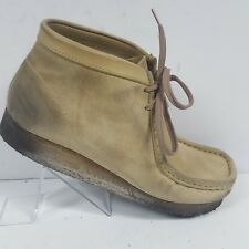 Clarks Originals Wallabee Tan Sand Suede Ankle Boots 35385 Womens Size 9.5 M