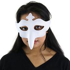 Naso Lungo Bird Veneziana Medico della Peste Ballo in Maschera Halloween Maschera-Bianco