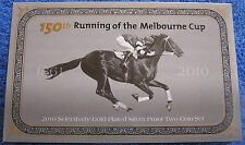2010 150th RUNNING OF THE MELBOURNE CUP GOLD PLATED SILVER PROOF COIN SET