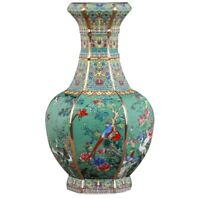 Jingdezhen Qianlong Ceramic Vase Enamel porcelain Chinese Antique Reproduction