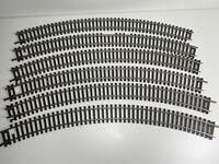6 x Mainline Radius 2 Curves Used Curved Steel Track Pieces HO OO Gauge