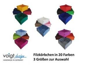"""FILZKÖRBCHEN """"Groß"""" Filz Korb Körbchen Deko Aufbewahrung (20 Farben 3 Größen)"""
