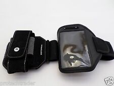 2 Pc Lot Cell Phone Gym Work Out Arm Band Motorola Droid Razr M Samsung Galaxy