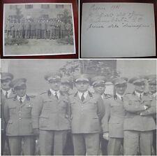 FOTO FORMATO GRANDE UFFICIALI OFFICINA AUTOMOBILISTICA REGIO ESERCITO 1936