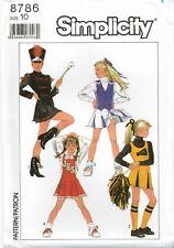 Simplicity 8786 Girls Cheerleader Uniform Majorette School sewing pattern Uncut