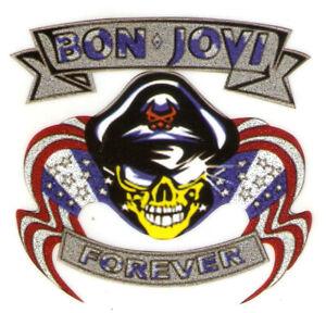 """3.5X3"""" American rock band IRON On TRANSFER Heat Vinyl skull skeleton forever"""
