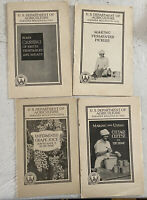 Lot Of 4 U.S. Department Of Agriculture Farmers Bulletin No 1075 1438 1451 1762