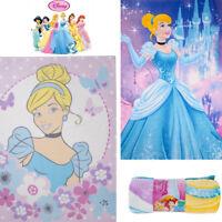 Kids Fleece Blanket Princess Girl Disney Soft Warm Snuggle Cuddly Cosy Snug Gift