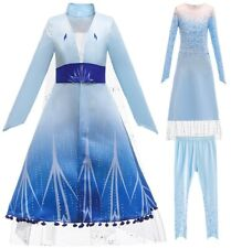 Girls Queen Elsa Costume Party Fancy Dress Pants Clothes Outfits 3 Pcs