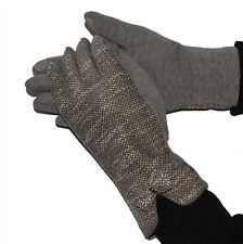 GLOVES GLOVE GLOVES WOMAN PADDED HOT WOOL UPHOLSTERED GREY WHITE 34