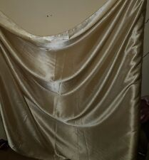 "1 M beige gold  DRESS  SATIN FABRIC..58""  WIDE"