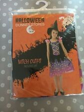 Dunnes Age 7-8 Witch Costume 2 Piece Set Brand New in Packaging