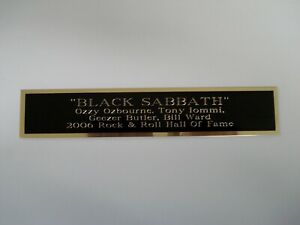 Black Sabbath Nameplate For A Signed Concert Poster Album Or Photograph 1.5 X 8