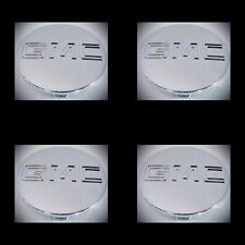 "GMC 4PC CHROME CENTER CAP Yukon Denali Sierra 3.25"" 83mm 18 20 22 Wheel 9595759"