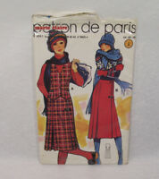 Ancien PATRON MARIE CLAIRE 60/70's GILET & JUPE  n°8941 Taille 44-46-48