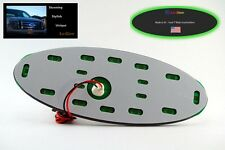 "Green LED Lo-Glow light Assessory for your 7"" wide Ford Emblem Badge"