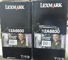 2 New Factory Sealed Genuine Lexmark 12A6830 Laser Cartridges New Bx Style T520