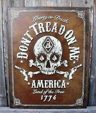 Sign Liberty or Death Dont Tread on Me America Land of Free Metal 12 1/2x16 New